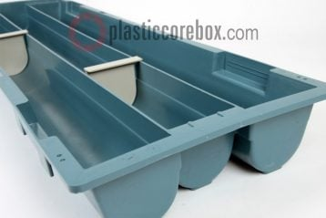 pq pw size blue plastic core box with seperators